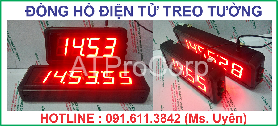 DONG HO DIEN TU TREO TUONG - DONG HO DIEN TU LED TREO TUONG