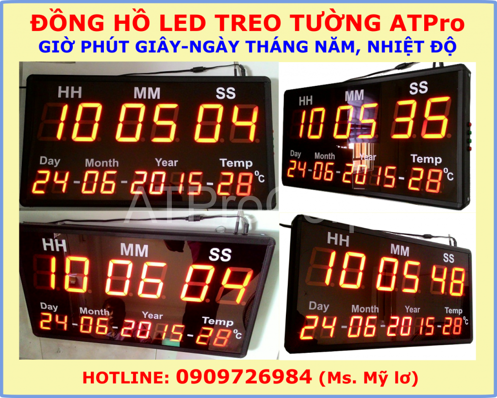 dong ho led treo tuong hien thi gio phut giay ngay thang nam nhiet do