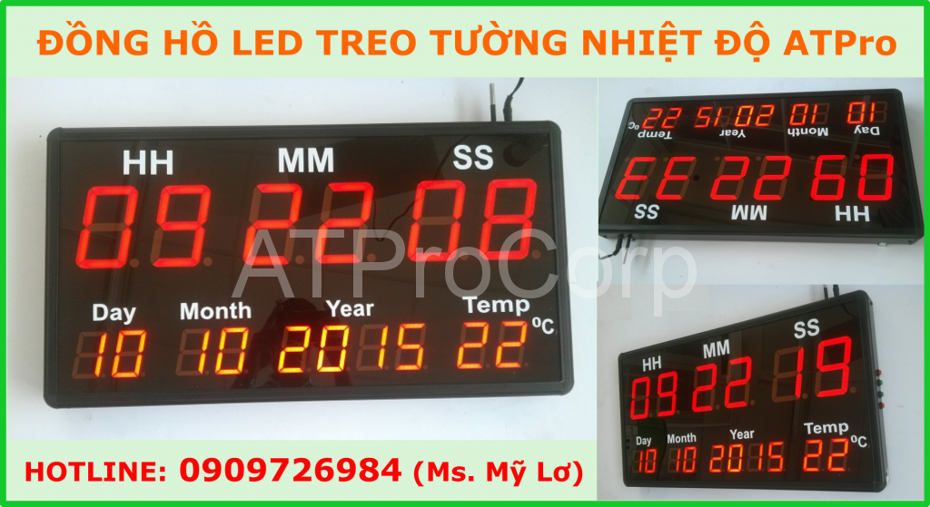dong ho led treo tuong nhiet do